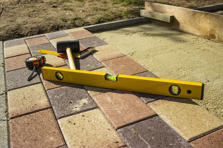 Tools for paving - object photography
