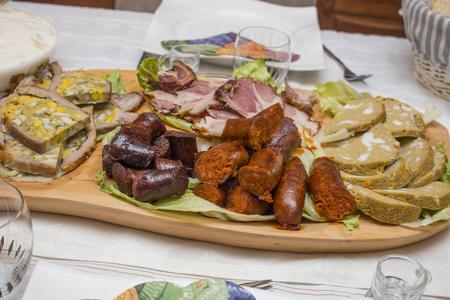 Traditonal hungarian easter table set