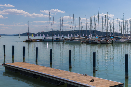 Harbour of  Yachtclub in Hungary, Balatonfüred