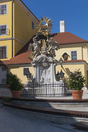 Hungarian statue - ark of the covenant, Hungary, Győr Editorial