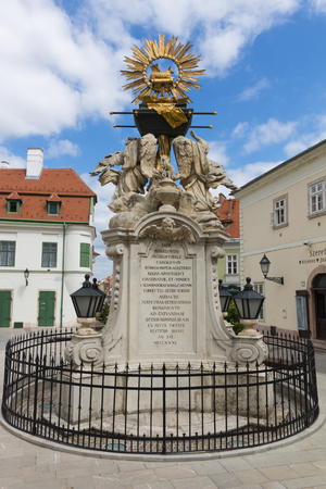 Hungarian statue - ark of the covenant, Hungary, Gy?r Stock Photo - 87129500