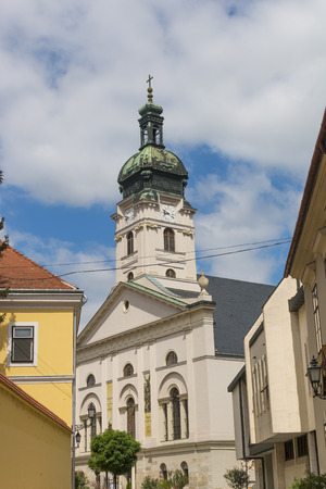 Roman cathedral in Gyor, Hungary  - outdoor photography