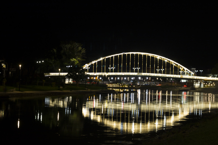 Kossuth bridge, Hungary, Gyor - nightscape photography Stock Photo