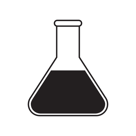 conical: Simple flat conical flask icon, grayscale on white background