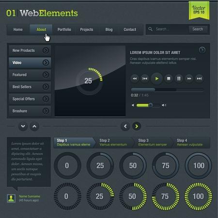 interface elements: Web elements