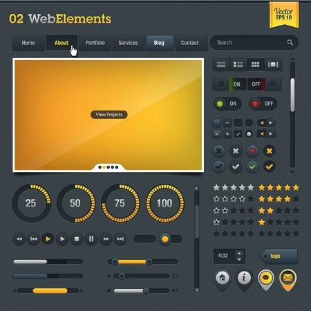 Web design elements Stock Vector - 12492856