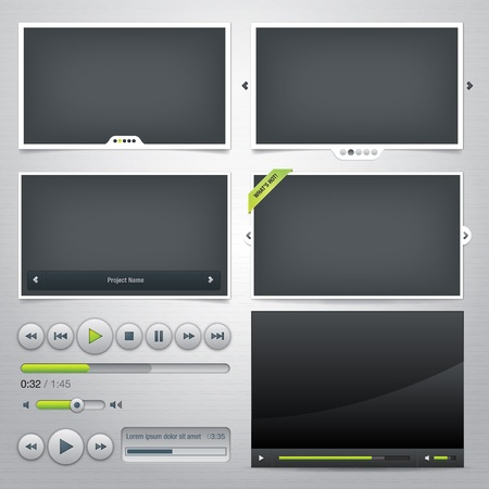video player: Set of web frames and elements