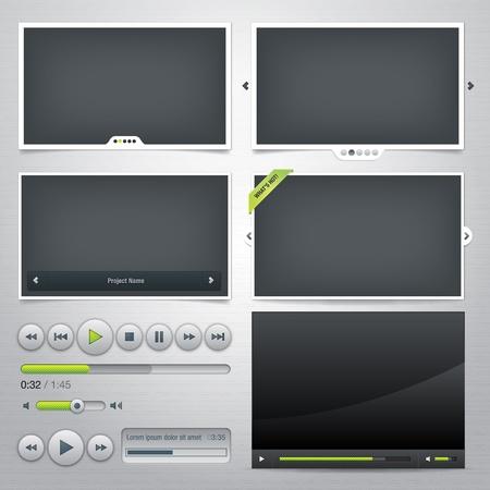 slider: Set of web frames and elements