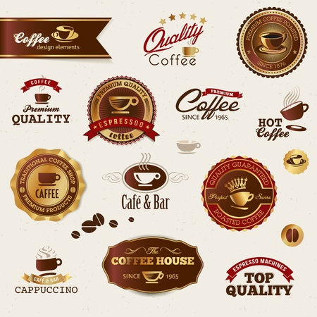 food label: Coffee labels and elements