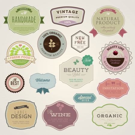 Set of labels and stickers  Vector