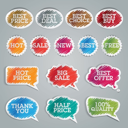 Set of colorful stickers Stock Vector - 13541976