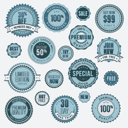 Set of business badges and stickers  Stock Vector - 13604672