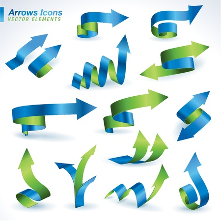accounting design: Set of arrows icons