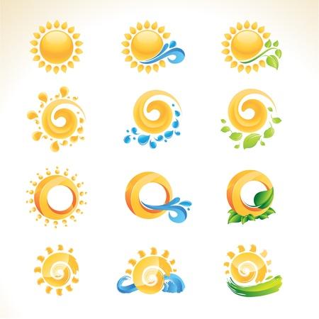 el sol: Conjunto de iconos del sol