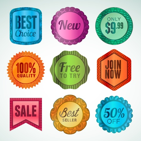 Set of labels and stickers Stock Vector - 14491367