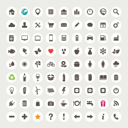solar symbol: Set of web icons