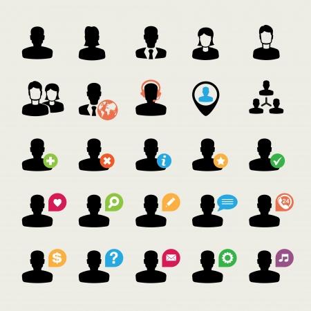 사용자: 사용자 아이콘의 집합