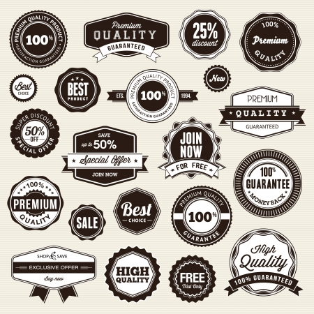 badge: Set of labels and stickers Illustration