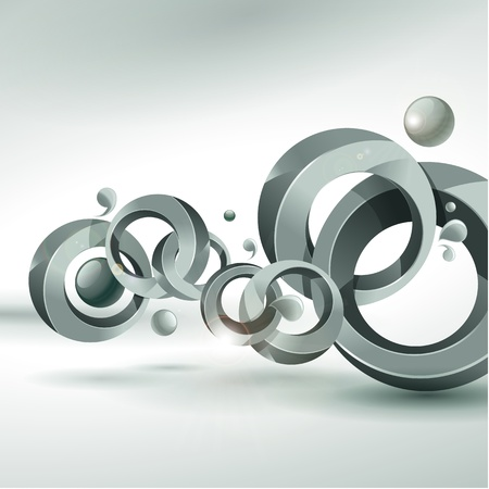 overlapping: Abstract vector background  Illustration