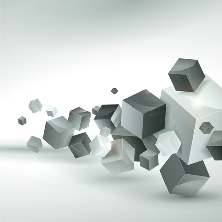 white cube: Abstract vector background