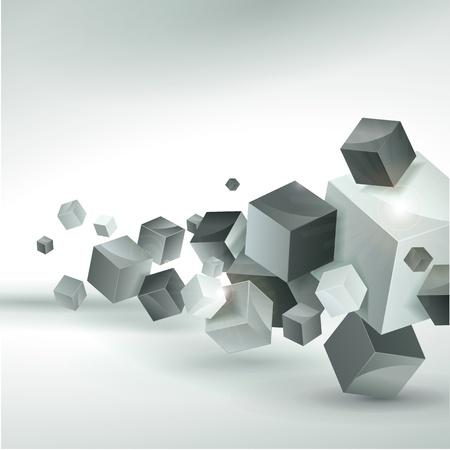 cubo: Resumen de vectores de fondo Vectores