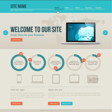 Vintage website template Vector