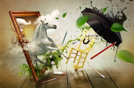 Magical world of painting  photo