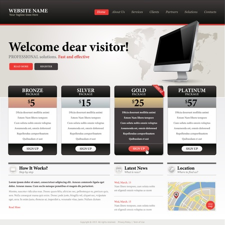 landing: Website design template