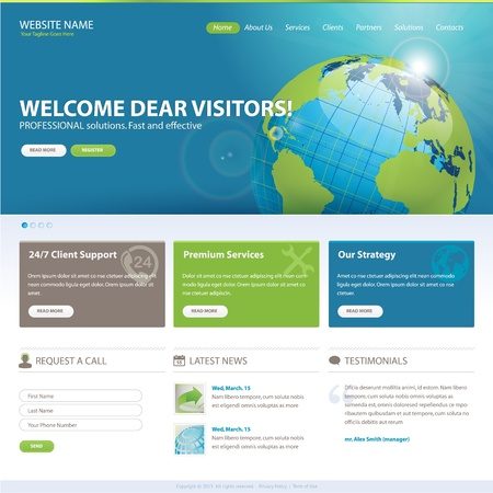 website template: Website template