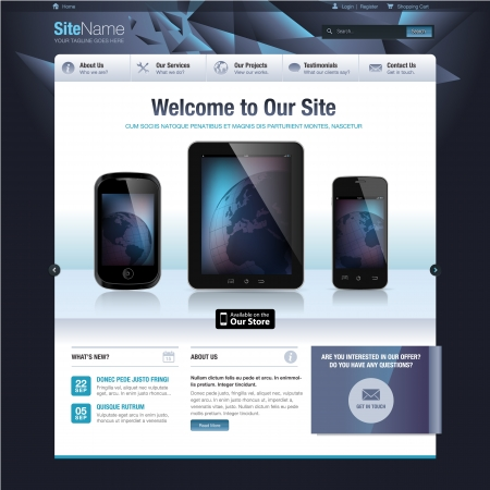 electronic devices: Website design template