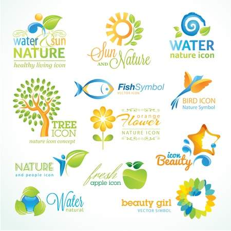Set of nature icons Stock Vector - 16823488