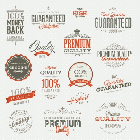 vintage background pattern: Set of vintage badges and elements