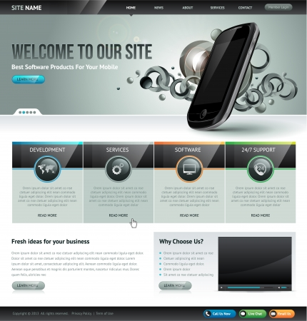 slider: Website design template