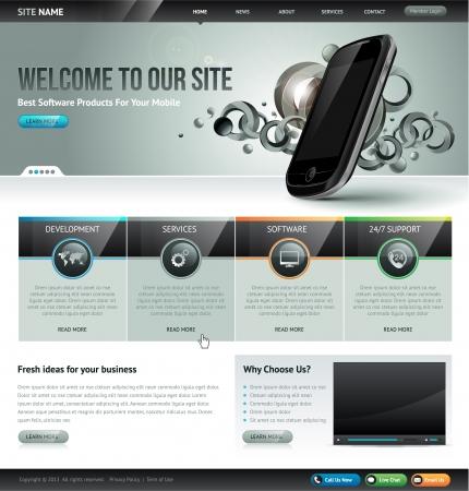 plantilla: Website plantilla de diseño