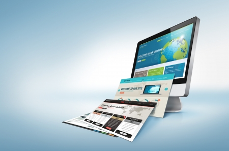 웹 디자인의 개념 스톡 콘텐츠