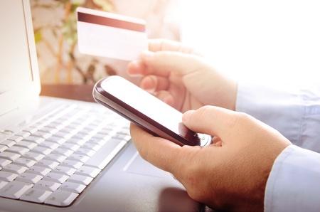 online payment: Online market  Stock Photo