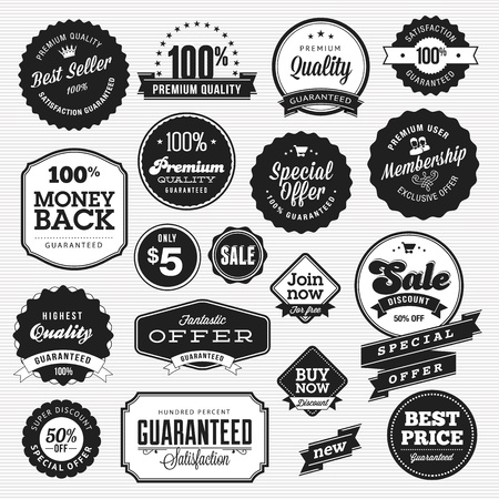 Set of badges and stickers for sale Stock Vector - 17241688