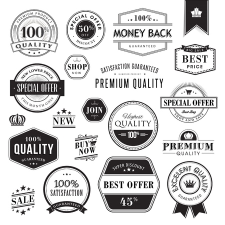 Set of badges and elements Stock Vector - 17241689