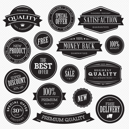 Set of stickers for sale Stock Vector - 17241691