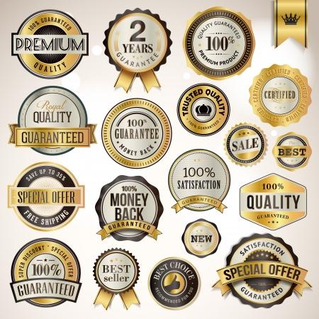 decis�es: Jogo dos emblemas de luxo e adesivos Ilustra��o
