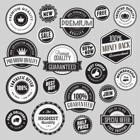 Set of labels and stickers for sale  Vector