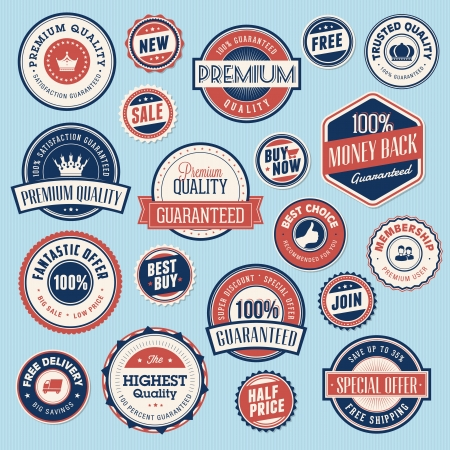membership: Set of vintage labels and stickers for sale