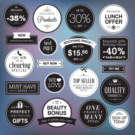 Set of luxury badges and stickers  Vector