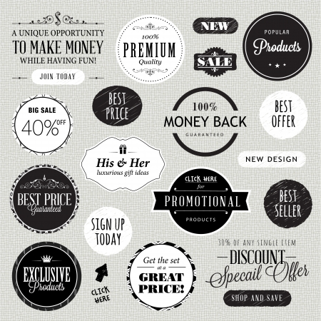 Set of labels and elements  Vector