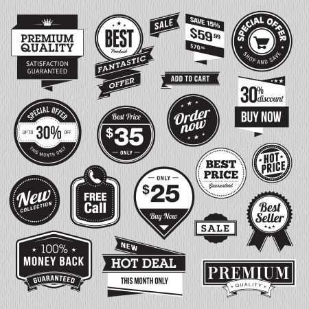 Set of badges and stickers for sale Stock Vector - 18101757