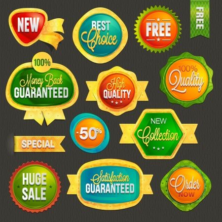 Set of badges and labels Stock Vector - 18101779