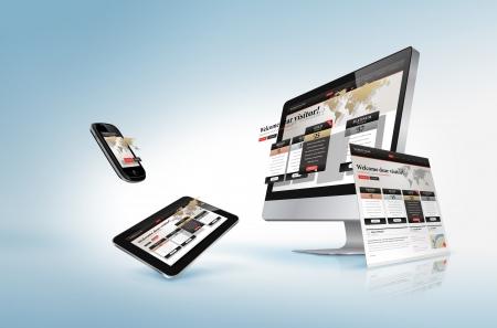hospedagem: Conceito de design Web