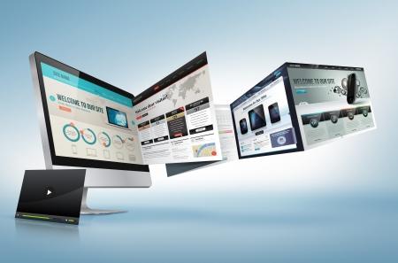 ic�ne logiciel: Concept de design Web Banque d'images