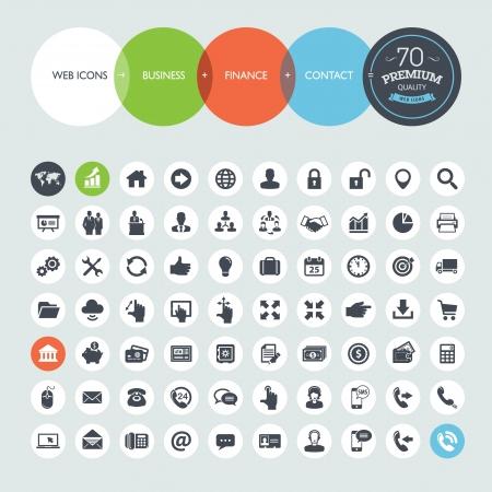 tecnologia: Set di icone di affari