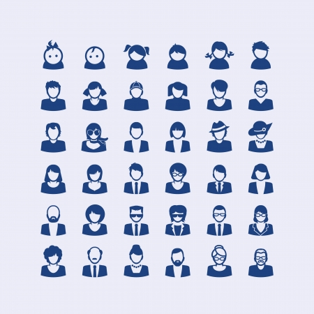 avatars: Set di icone avatar
